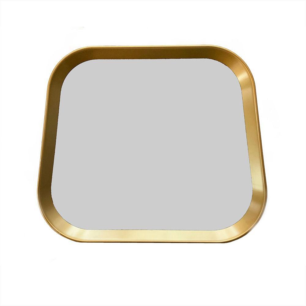 Espelho Retangular com Moldura Dourada 33x38 cm - D'Rossi