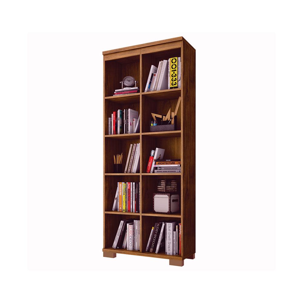 Estante Organizadora Para Livros com Nichos Nobre 175 cm - D'Rossi