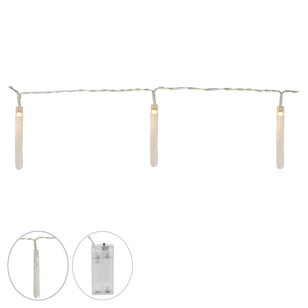 Fita 10 Luzes Decorativa Led Branco Com Pilha D'Rossi