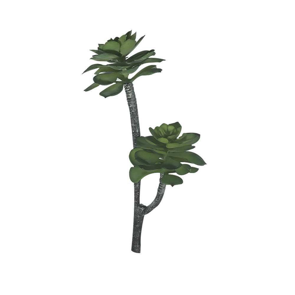 Galho Decorativo Suculenta Verde 30 cm - D'Rossi