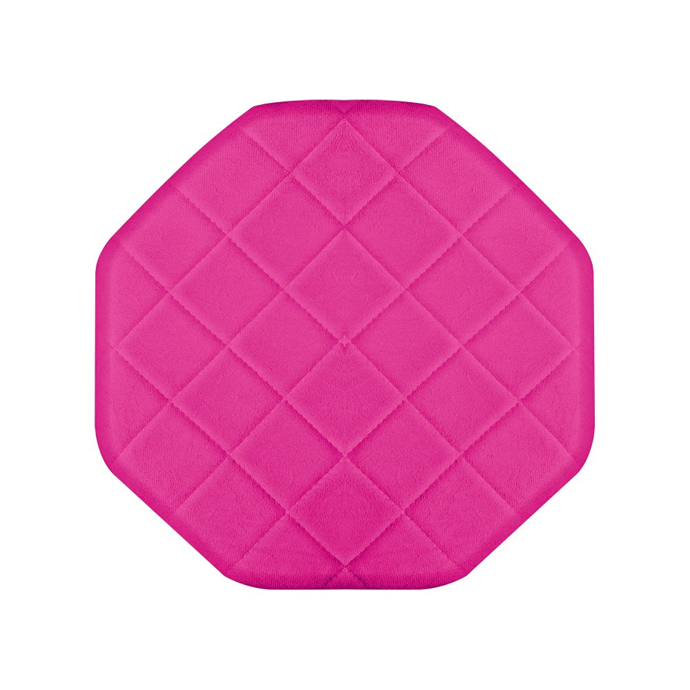 Kit 01 Poltrona e 01 Puff Veronês Suede Pink Pés Palito Castanho D'Rossi