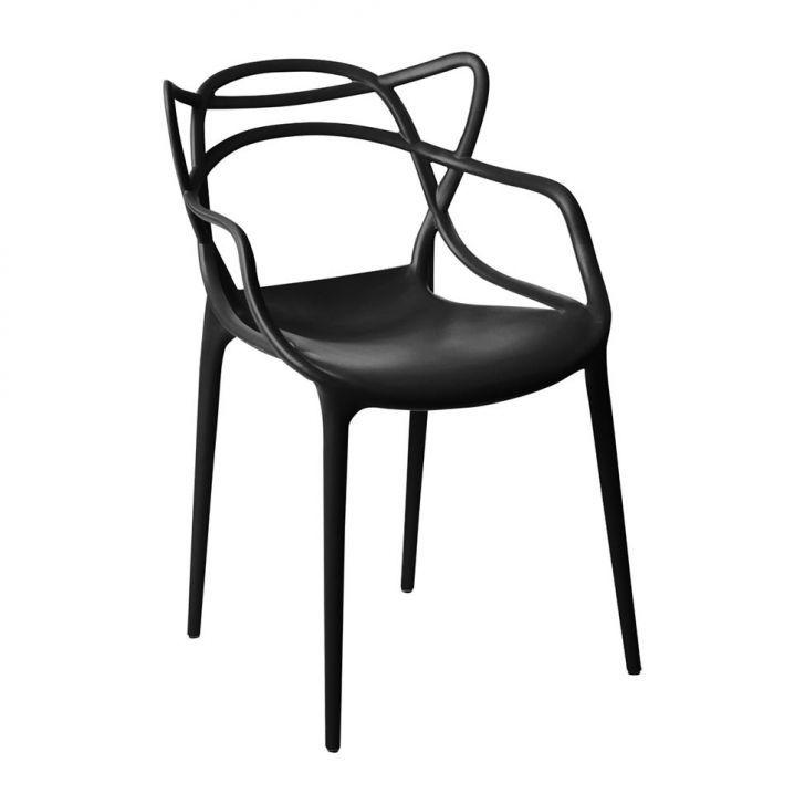Kit 02 Cadeira Allegra Sala de Jantar Preto - D'Rossi