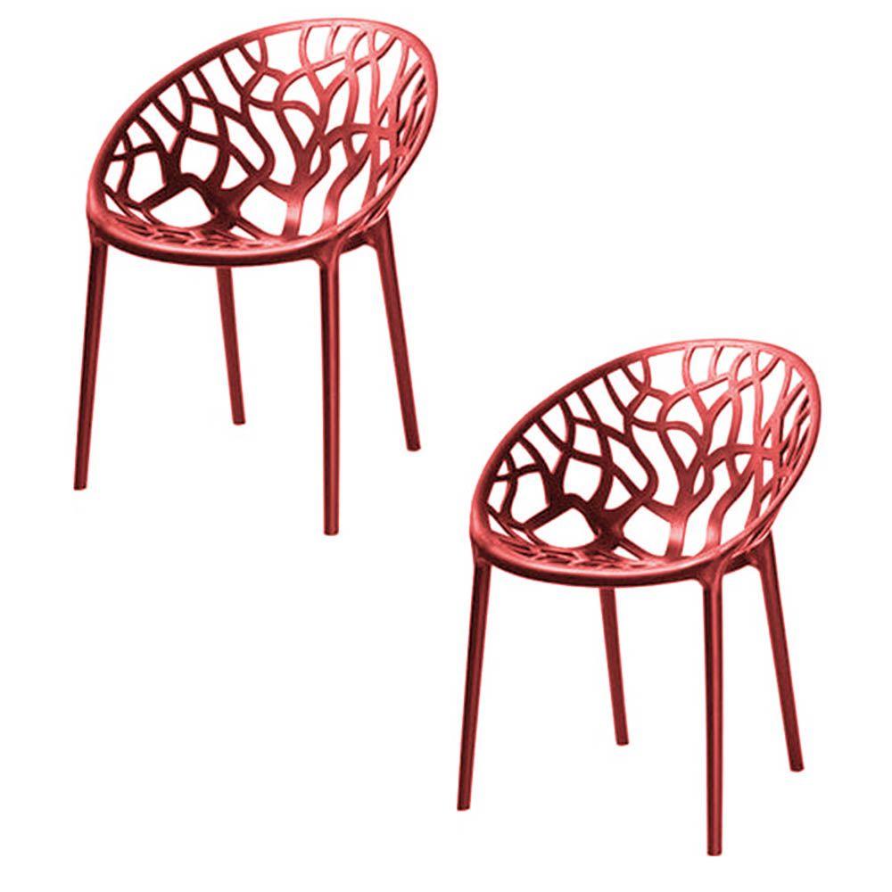 Kit 02 Cadeiras Nairobi Sala de Jantar Vermelho - D'Rossi