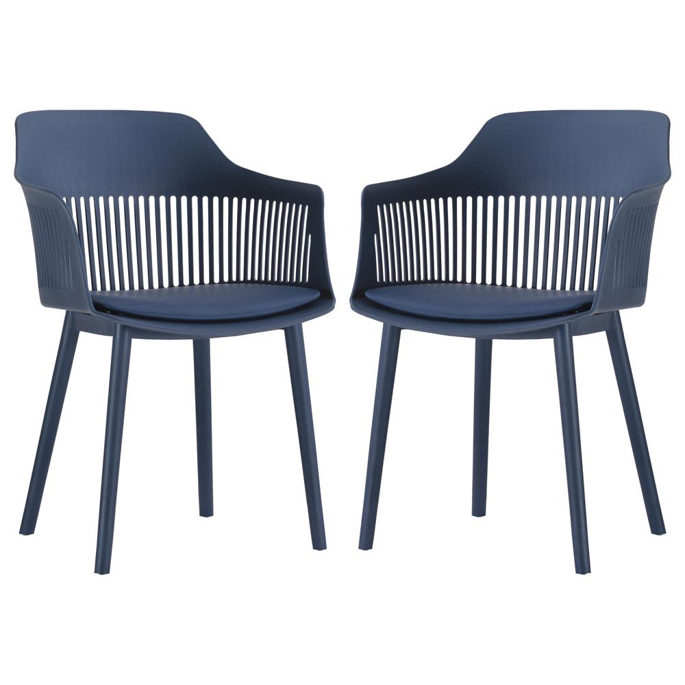 Kit 02 Cadeiras Polipropileno Marcela Azul Marinho - D'Rossi