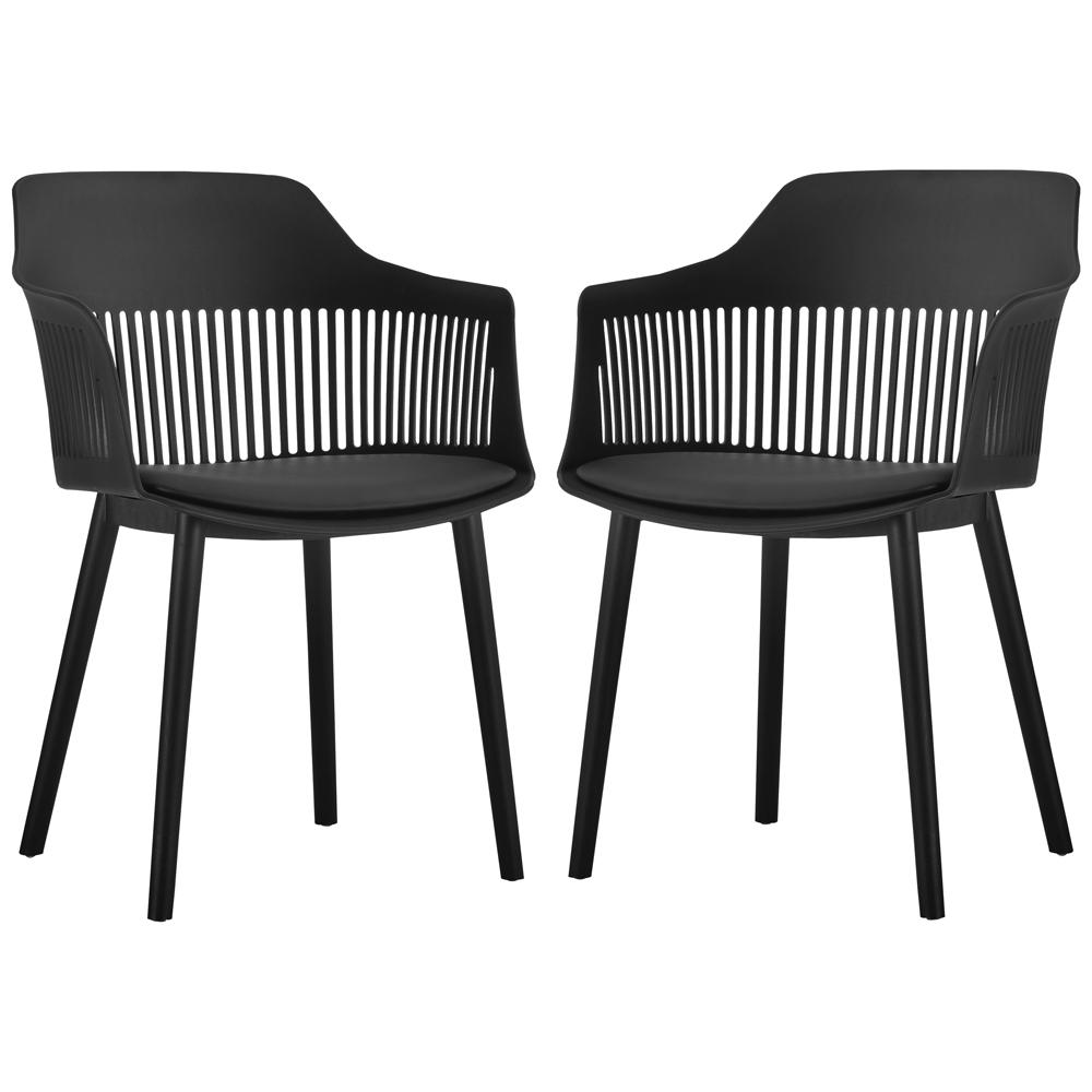 Kit 02 Cadeiras Polipropileno Marcela Preto - D'Rossi