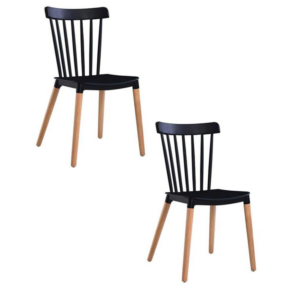 Kit 02 Cadeiras Tóquio Sala de Jantar Preto D'Rossi