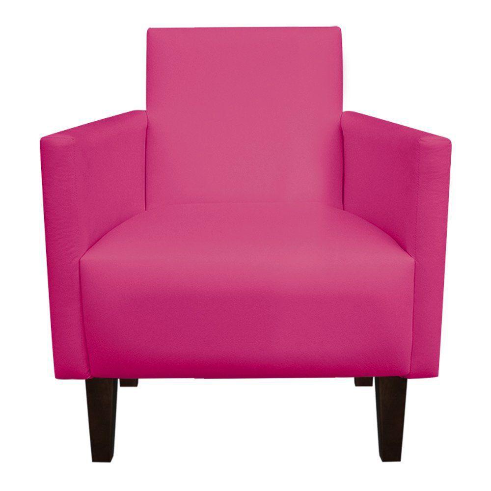 Kit 02 Poltronas Jade Corino Pink Pés Chanfrado Tabaco D'Rossi
