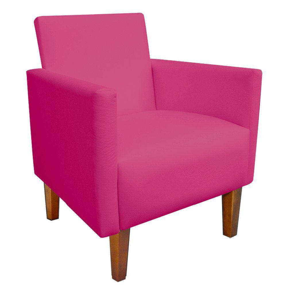 Kit 02 Poltronas Jade Corino Pink Pés Chanfrado Castanho D'Rossi