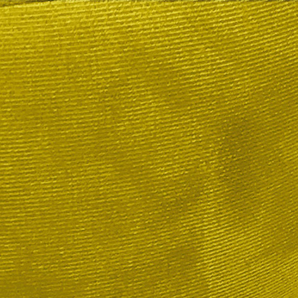 Kit 02 Puffs Banqueta Berlim Redondo Suede Amarelo Pés Castanho D'Rossi