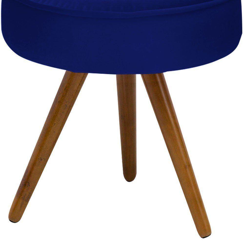 Kit 02 Puff Decorativo Julia Redondo Suede Azul Marinho - D'Rossi