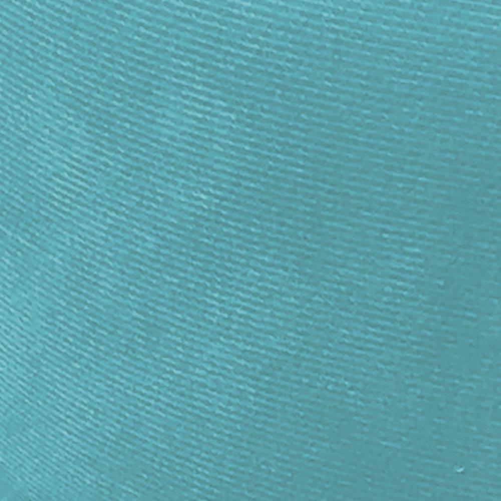 Kit 02 Puffs Banqueta Dora Redondo Suede Azul Turquesa Pés Palito Castanho D'Rossi