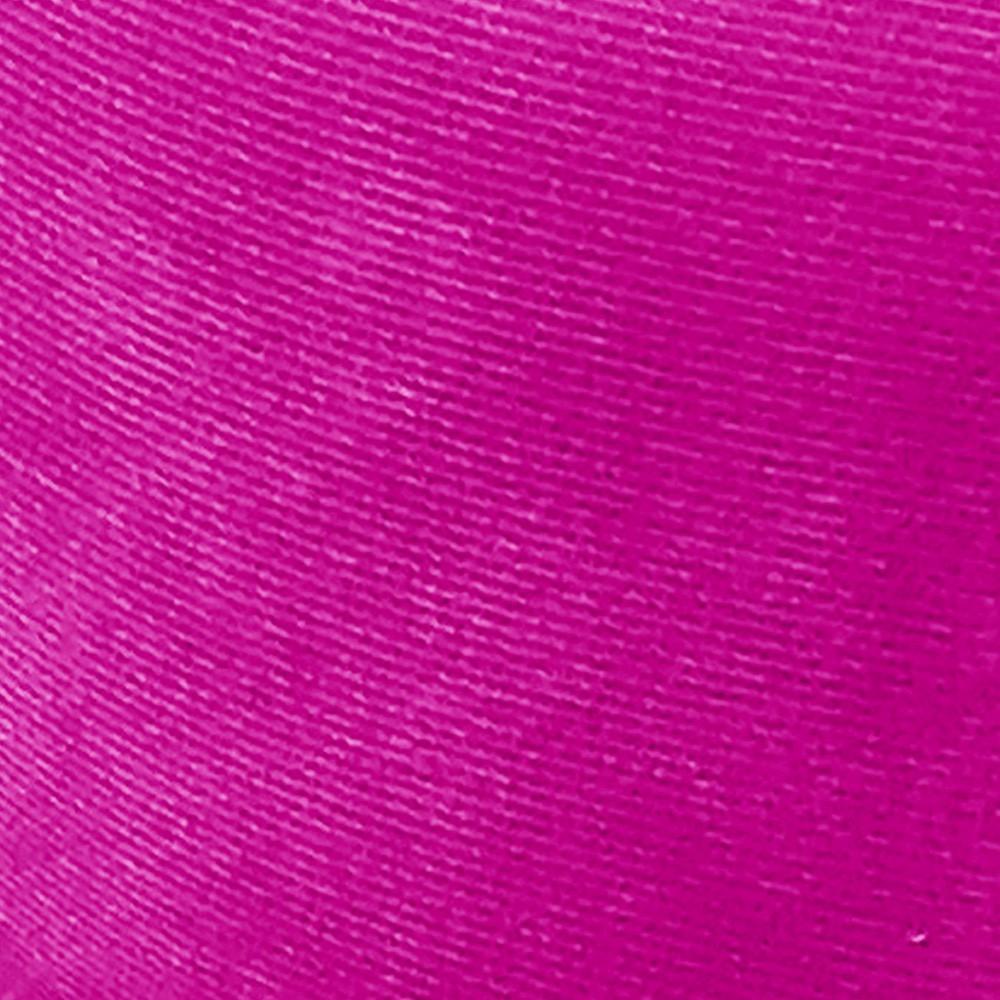 Kit 02 Puffs Banqueta Dora Redondo Suede Pink Pés Palito Castanho D'Rossi