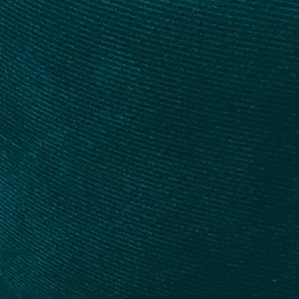 Kit 02 Puffs Opala Suede Azul Pavão Pés Palito D'Rossi