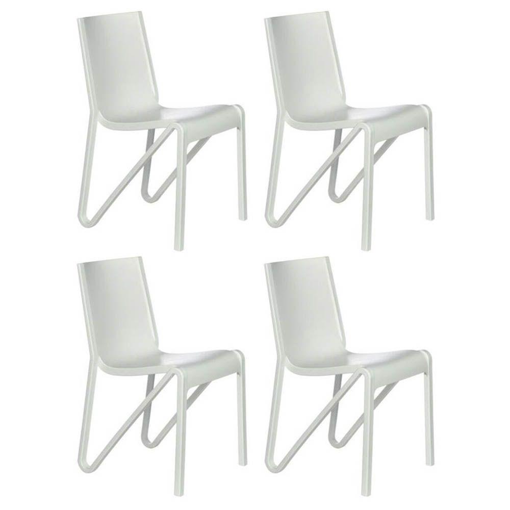 Kit 04 Cadeiras Estocolmo Sala de Jantar Branco - D'Rossi