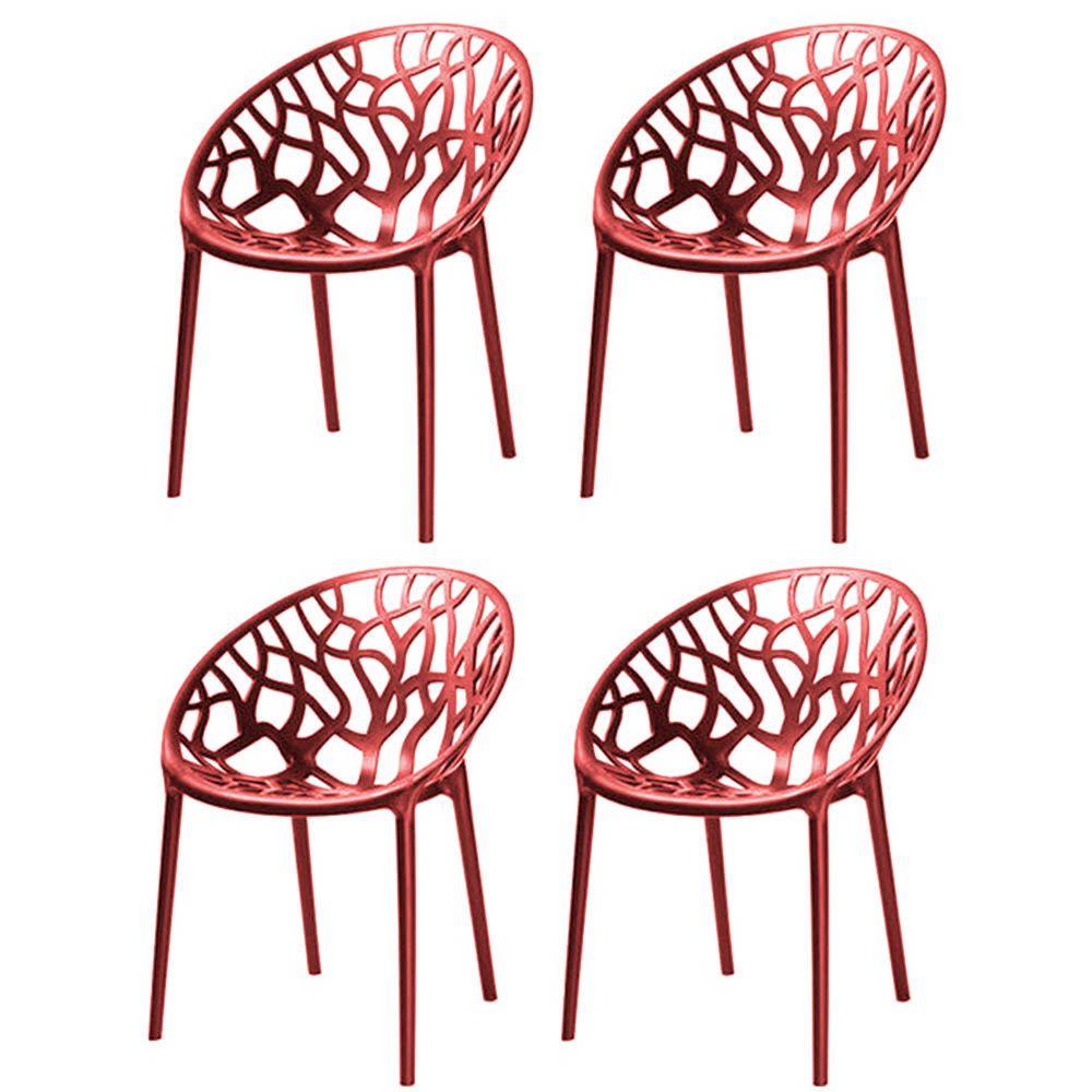 Kit 04 Cadeiras Nairobi Sala de Jantar Vermelho - D'Rossi