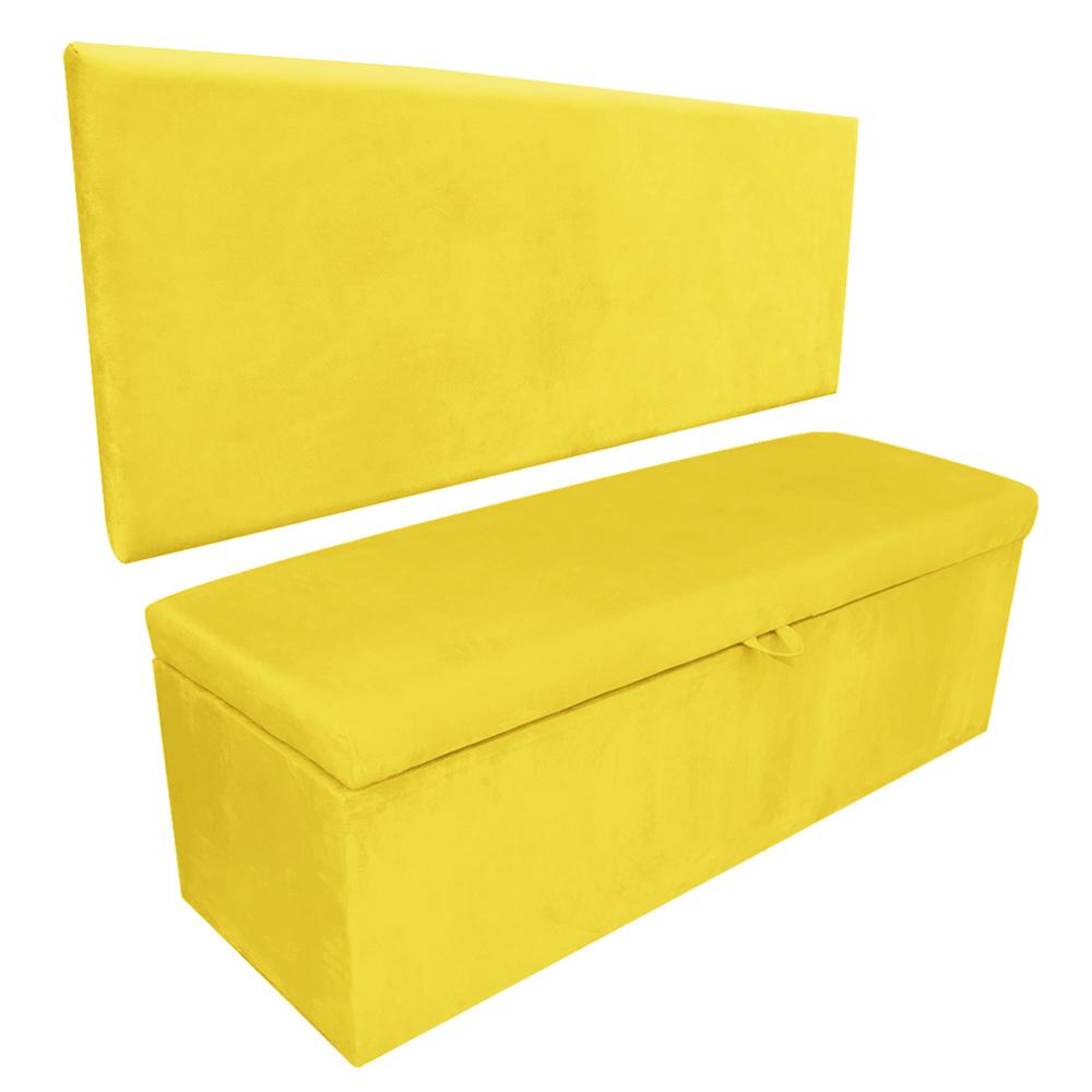 Kit Calçadeira e Painel Clean 0,90 cm Suede Amarelo D'Rossi