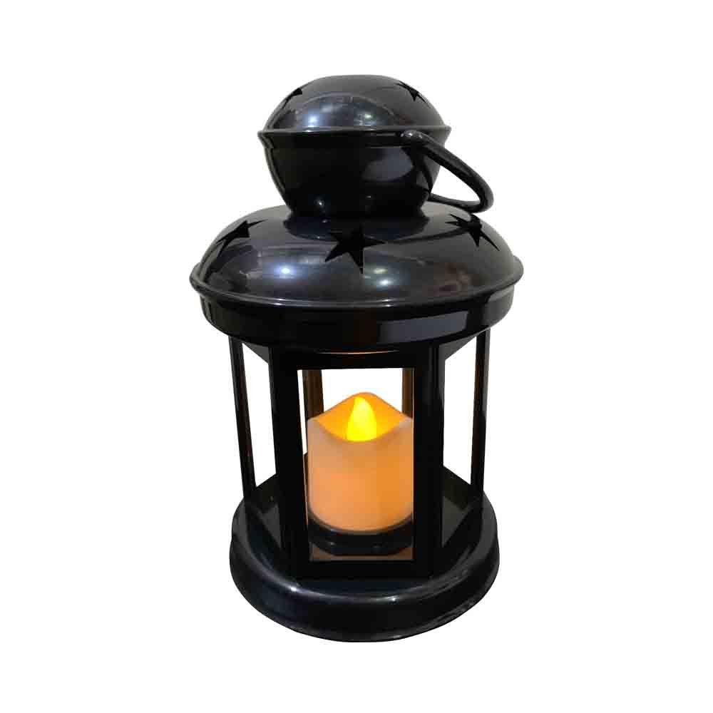 Lanterna Decorativa com LED Preto 15X9,5cm - D'Rossi