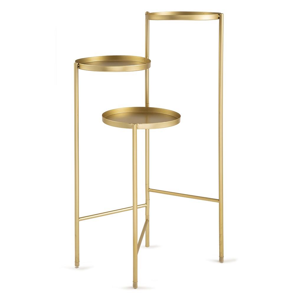 Mesa de Apoio Dourada 52 x 76 x 38cm D'Rossi