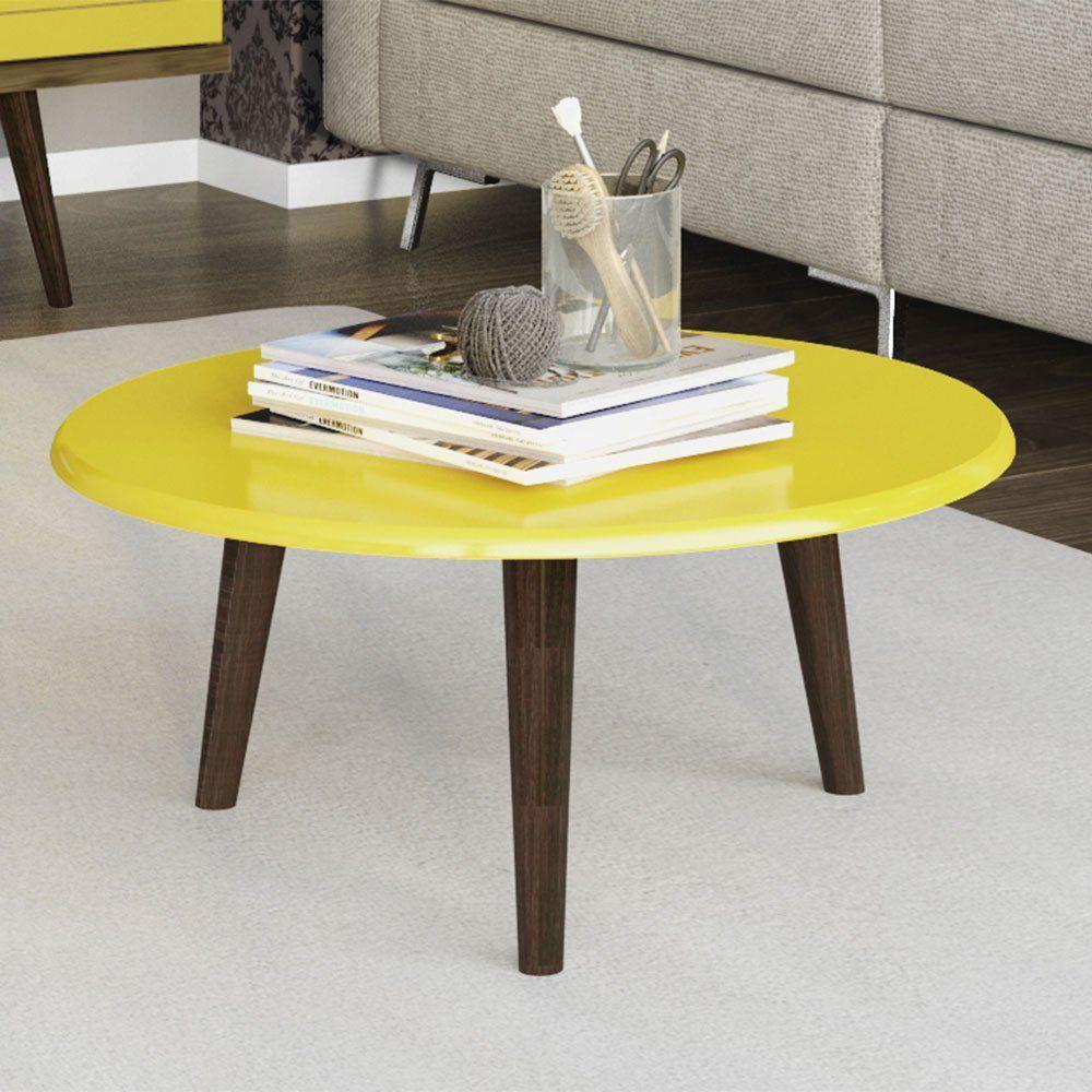 Mesa de Centro Brilhante Amarelo - D'Rossi