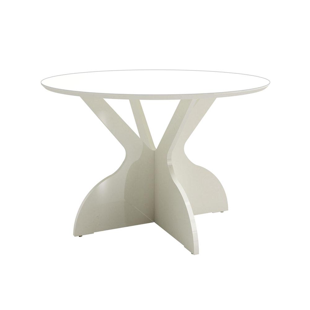 Mesa de Jantar Redonda Isabelle Off White 120 cm - D'Rossi
