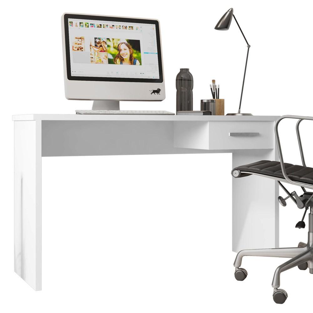 Mesa Para Computador com Gaveta Gávea Branco - D'Rossi