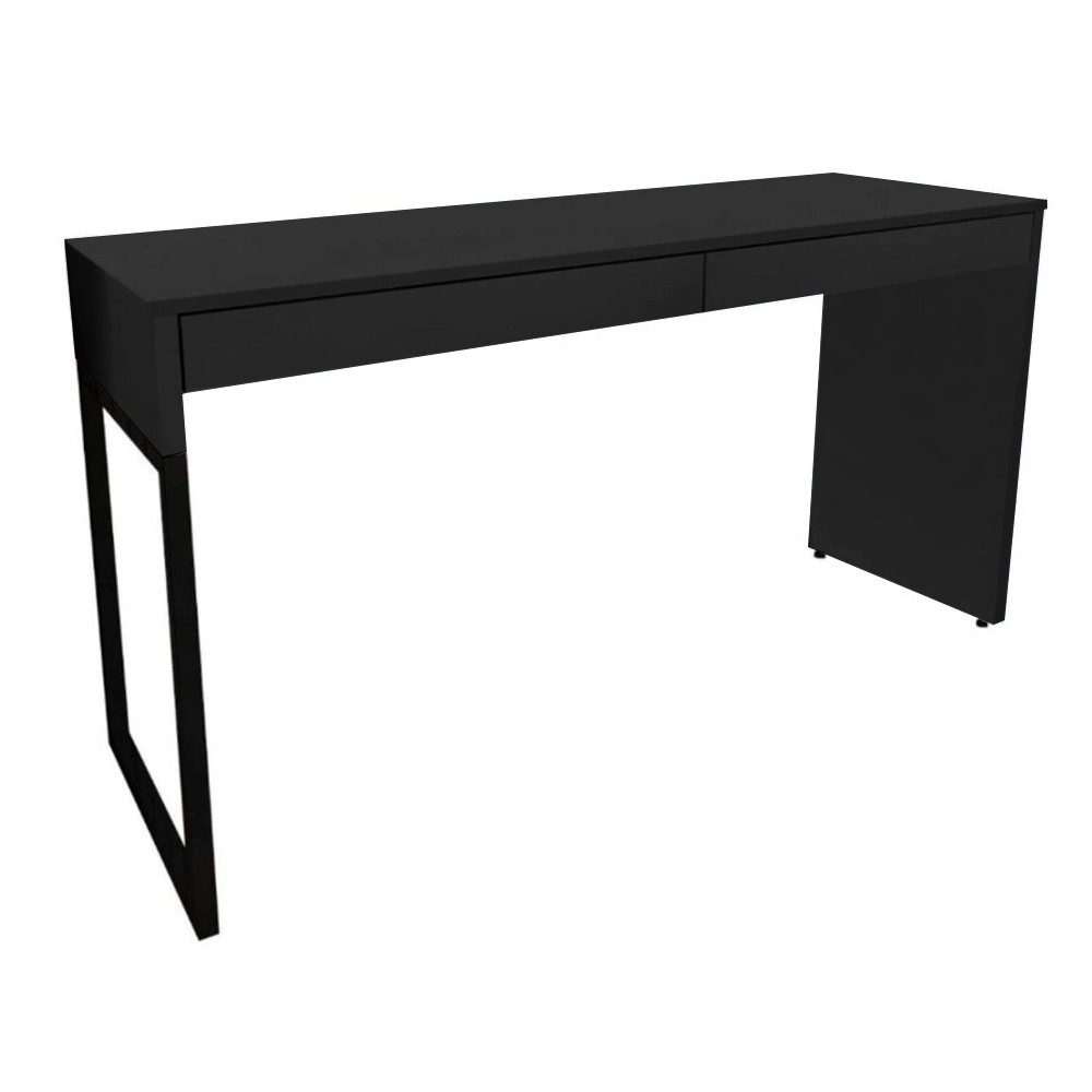 Mesa Para Computador Desk Com 2 Gavetas 120cm Preto D'Rossi