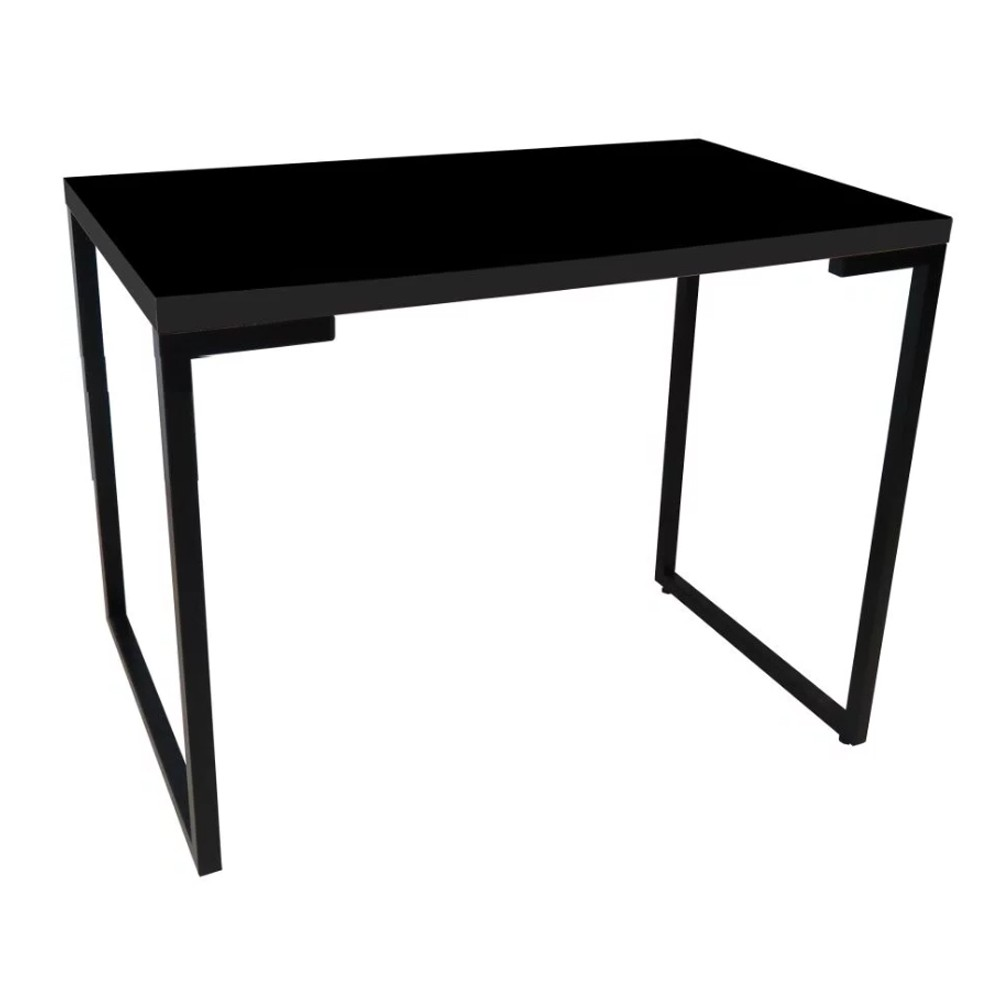 Mesa Para Computador Escrivaninha Porto 90cm Preto D'Rossi