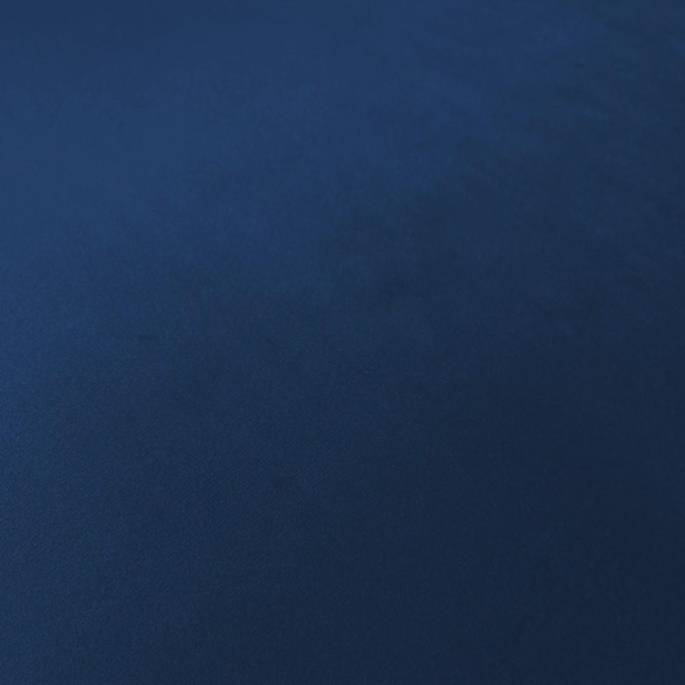 Namoradeira Opala Estampado Folhas D68 e Veludo Azul Marinho Pés Palito Castanho D'Rossi