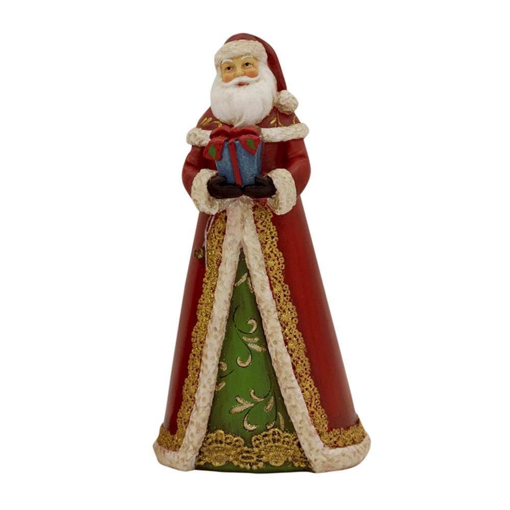 Enfeite Papai Noel Vermelho c/ Presente 21x10x7 - D'Rossi