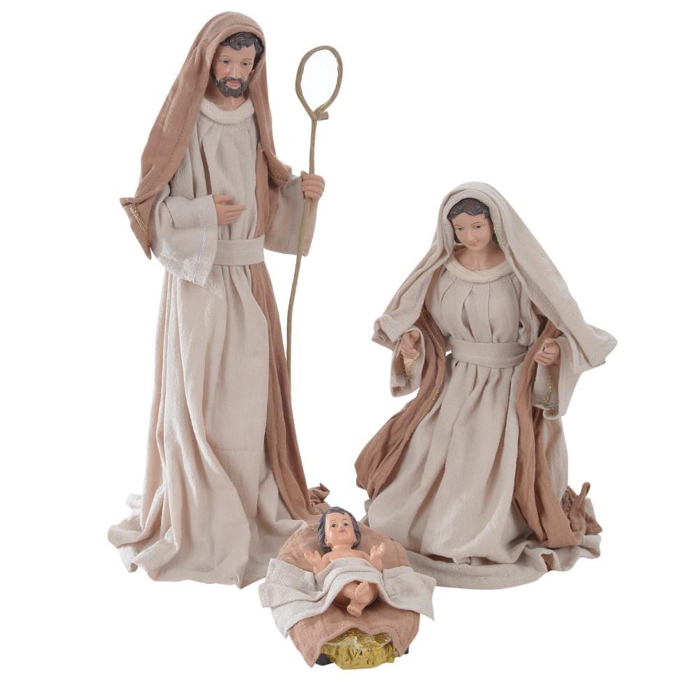Peça Decorativa Natal Sagrada Família Resina D'Rossi