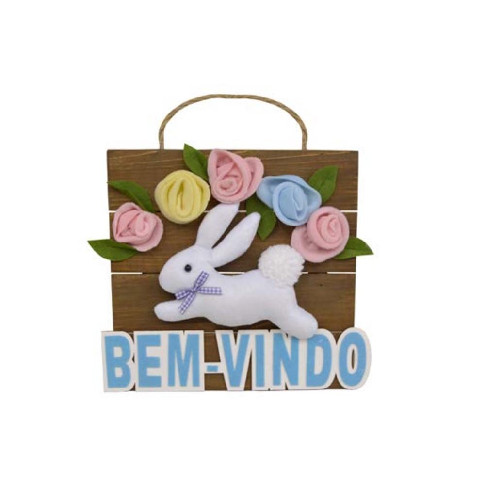 Placa Decorativa Coelho - D'Rossi
