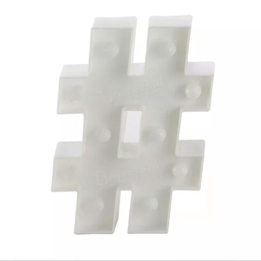Placa Decorativa Luminosa Branca 15X22cm - D'Rossi