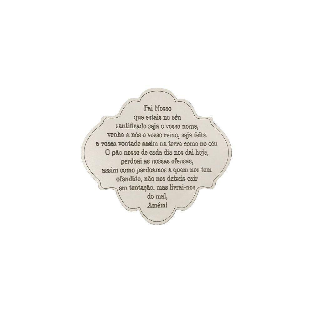 Placa Decorativa Oração Pai Nosso 12x10 MDF 3mm Branco - D'Rossi