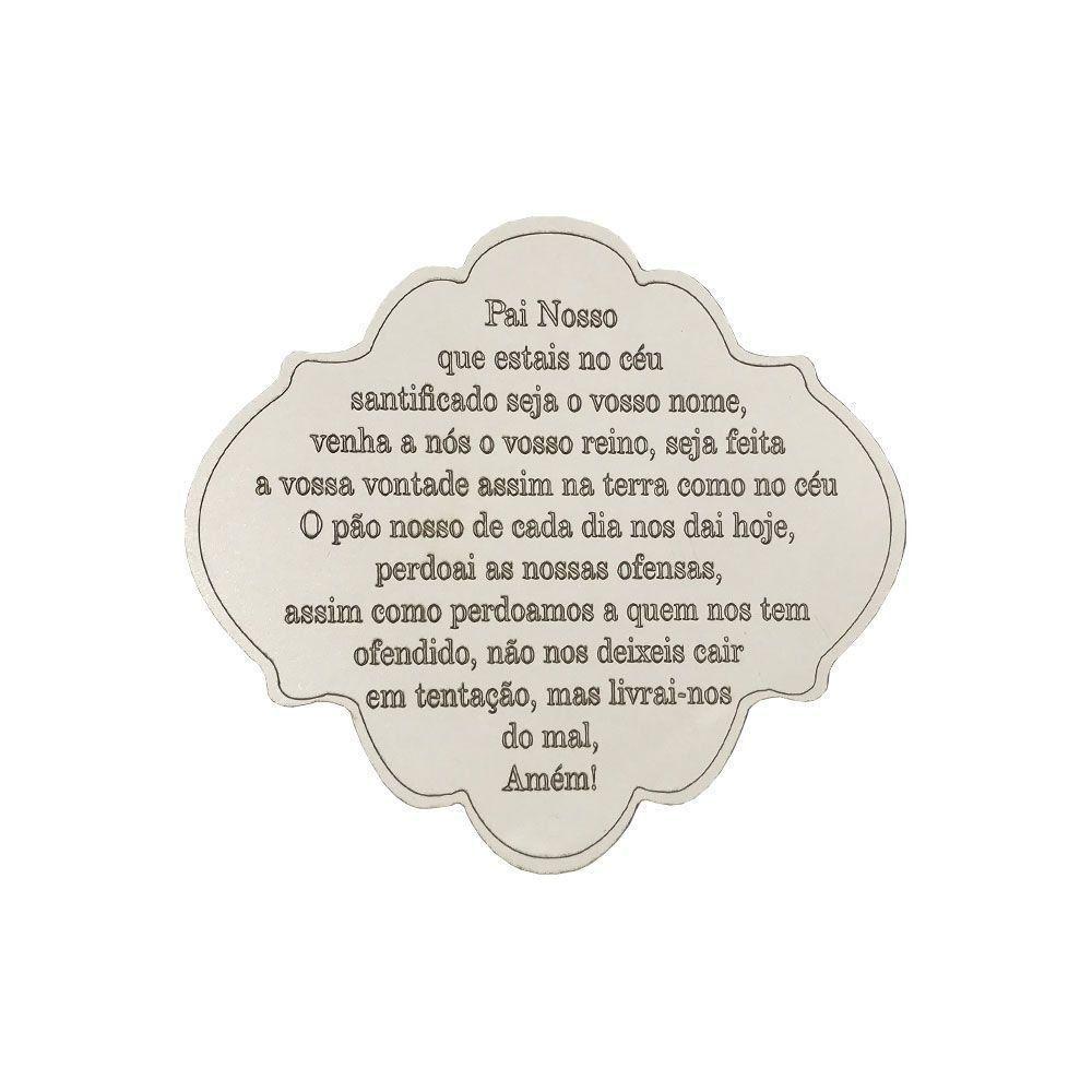 Placa Decorativa Oração Pai Nosso 22x20 MDF 3mm Branco - D'Rossi