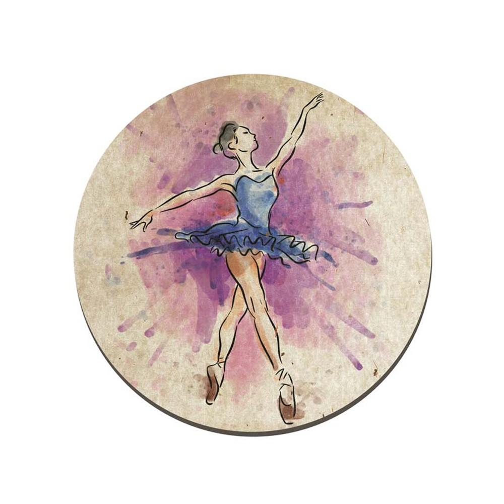Quadro Placa Decorativa Redonda Bailarina D'Rossi