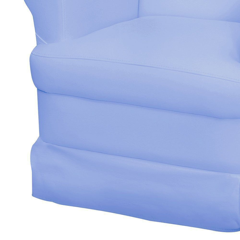 Poltrona de Amamentação com Balanço Sabrina Corino Azul Claro K-1090 D'Rossi