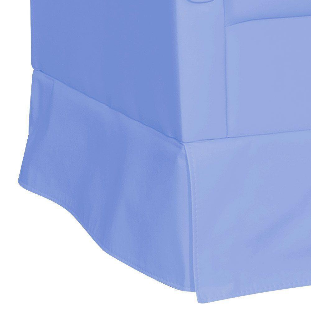 Poltrona de Amamentação com Puff Suzi Balanço Corino Azul Claro K-1090 D'Rossi