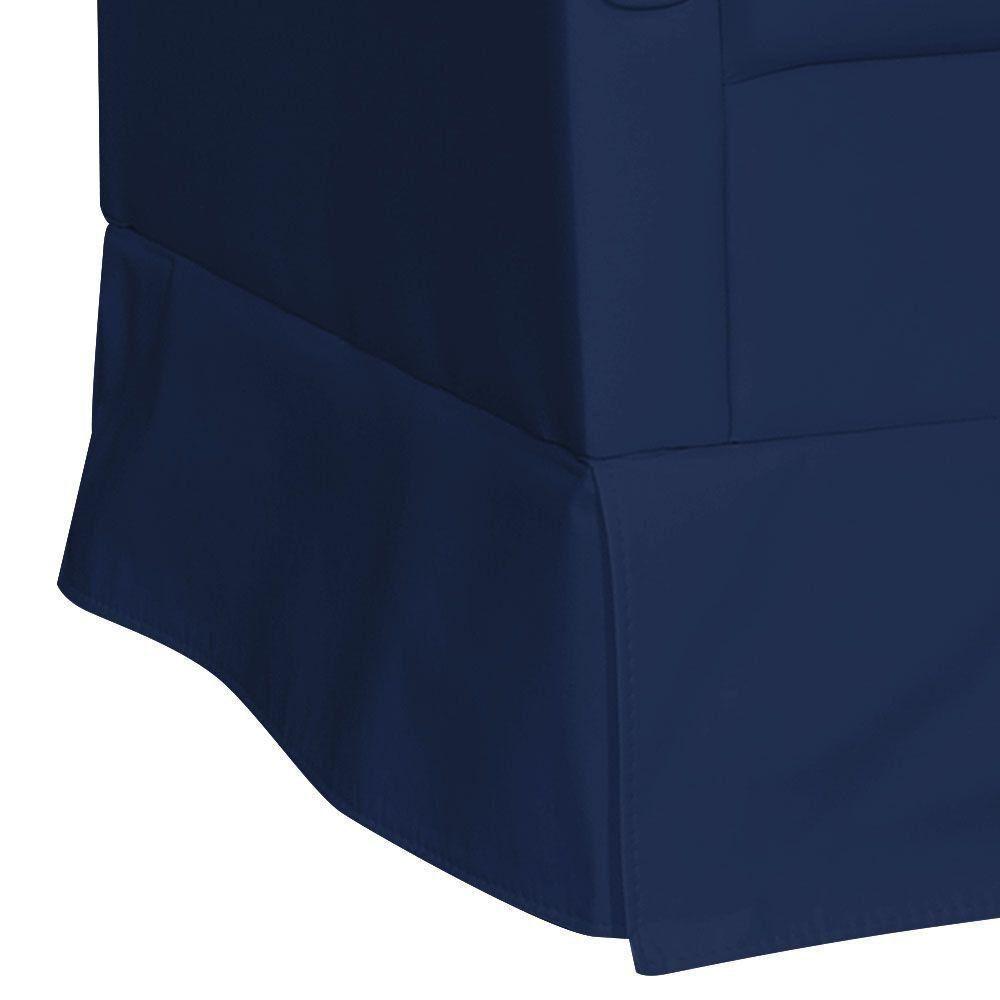 Poltrona de Amamentação com Puff Suzi Balanço Corino Azul Escuro KR-2005 D'Rossi