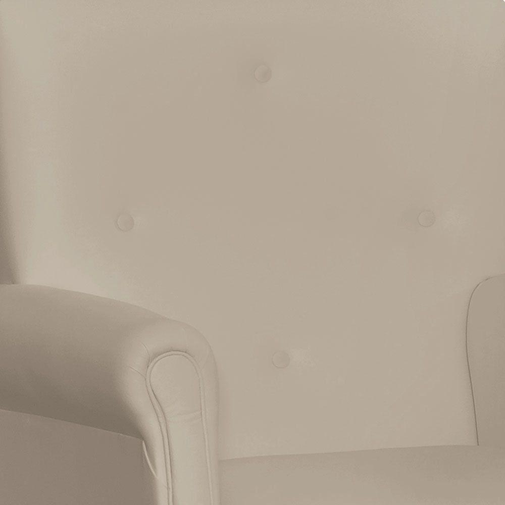 Poltrona de Amamentação com Puff Suzi Balanço Corino Bege K-1011 D'Rossi