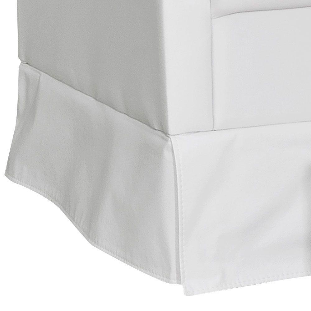 Poltrona de Amamentação com Puff Suzi Balanço Corino Branco K-1031 D'Rossi