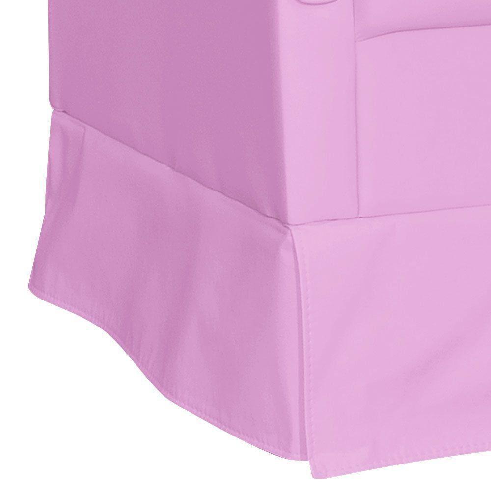 Poltrona de Amamentação com Puff Suzi Balanço Corino Rosa K-1200 D'Rossi