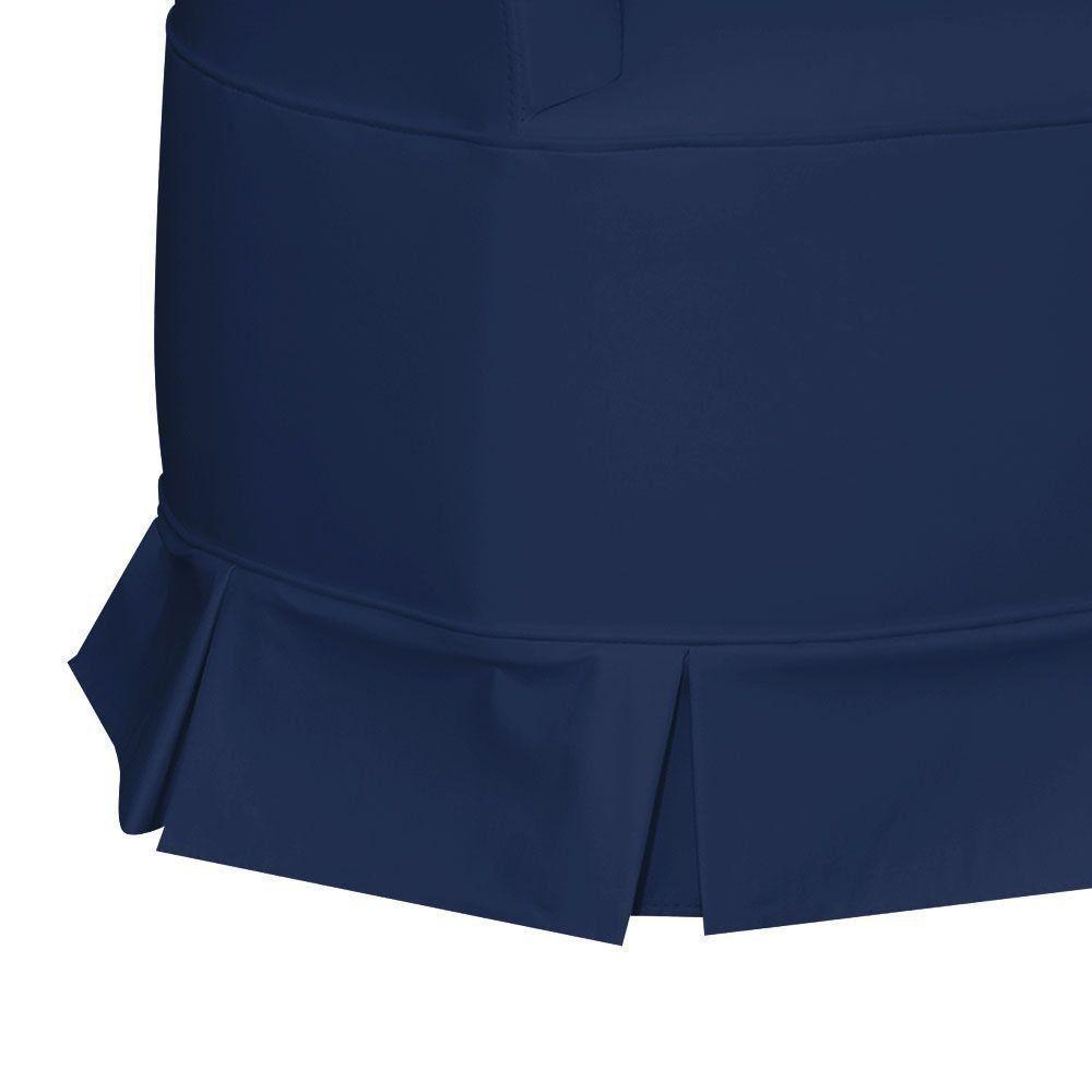 Poltrona de Amamentação com Puff Bárbara Botonê Corino Azul Escuro KR-2005 D'Ross