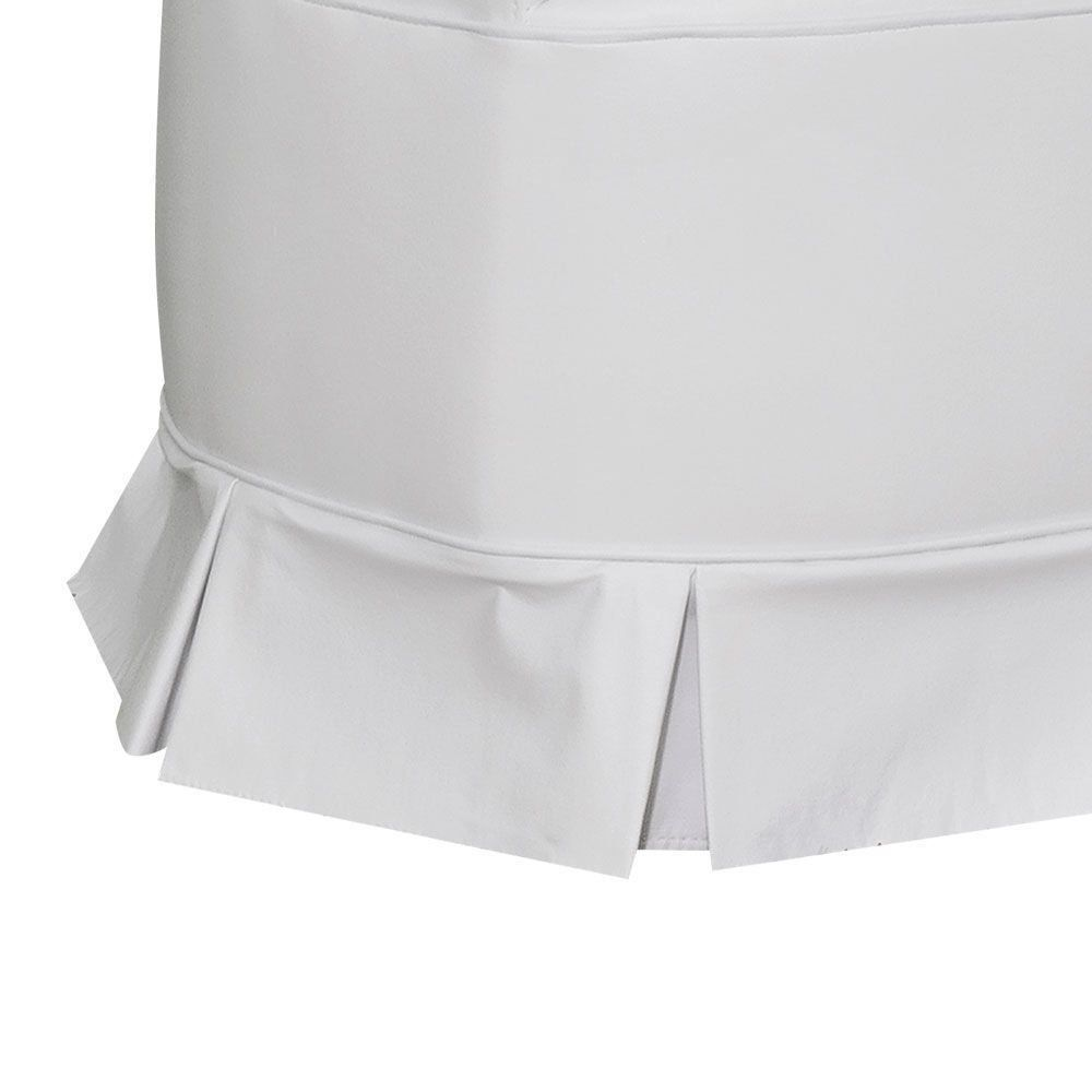 Poltrona de Amamentação com Puff Bárbara Botonê Corino Branco K-1031 D'Rossi
