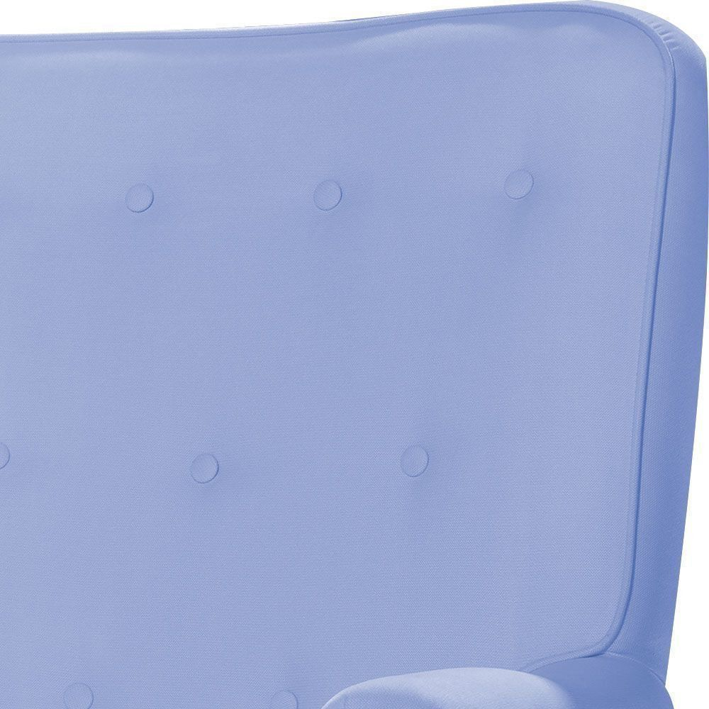 Poltrona de Amamentação Laura Botonê Corino Azul Claro K-1090 D'Rossi