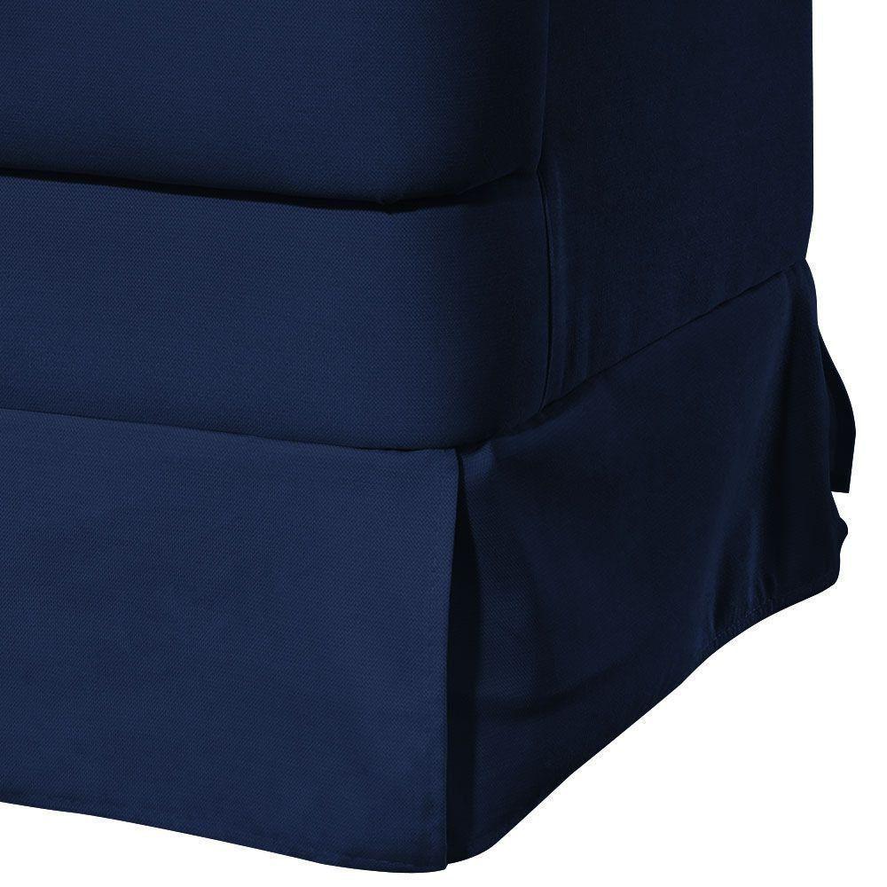 Poltrona de Amamentação Laura Botonê Corino Azul Escuro KR-2005 D'Rossi