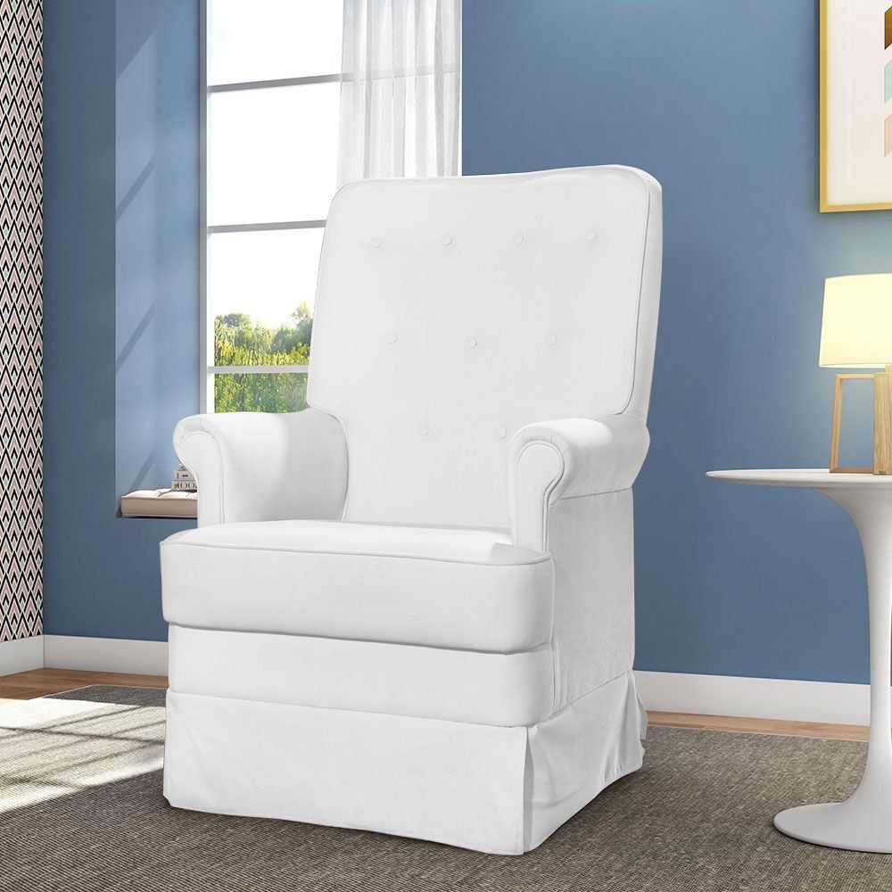 Poltrona de Amamentação Laura Botonê Corino Branco K-1031 D'Rossi