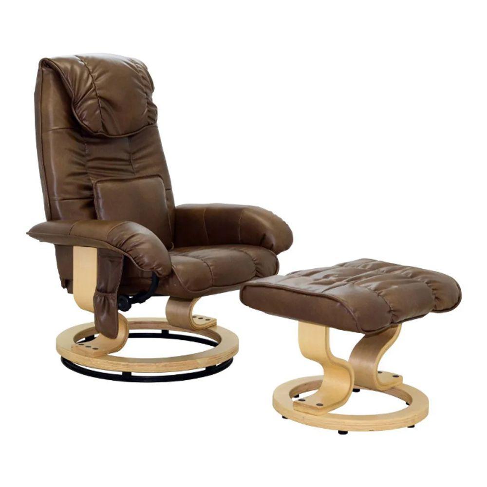 Poltrona de Massagem Louisiana Marrom Vintage D'Rossi