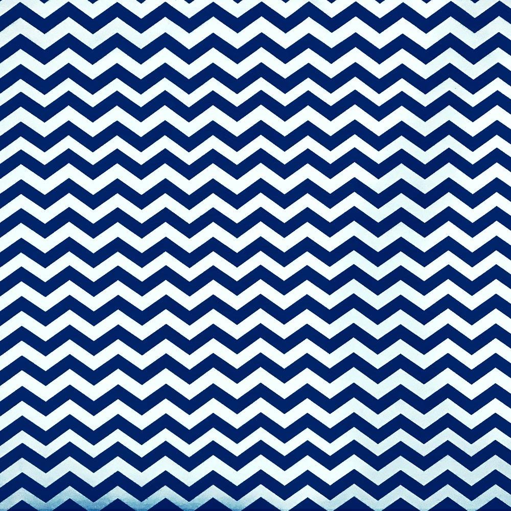 Poltrona Decorativa Dora Estampado Zig Zag Azul Marinho D02 - D'Rossi