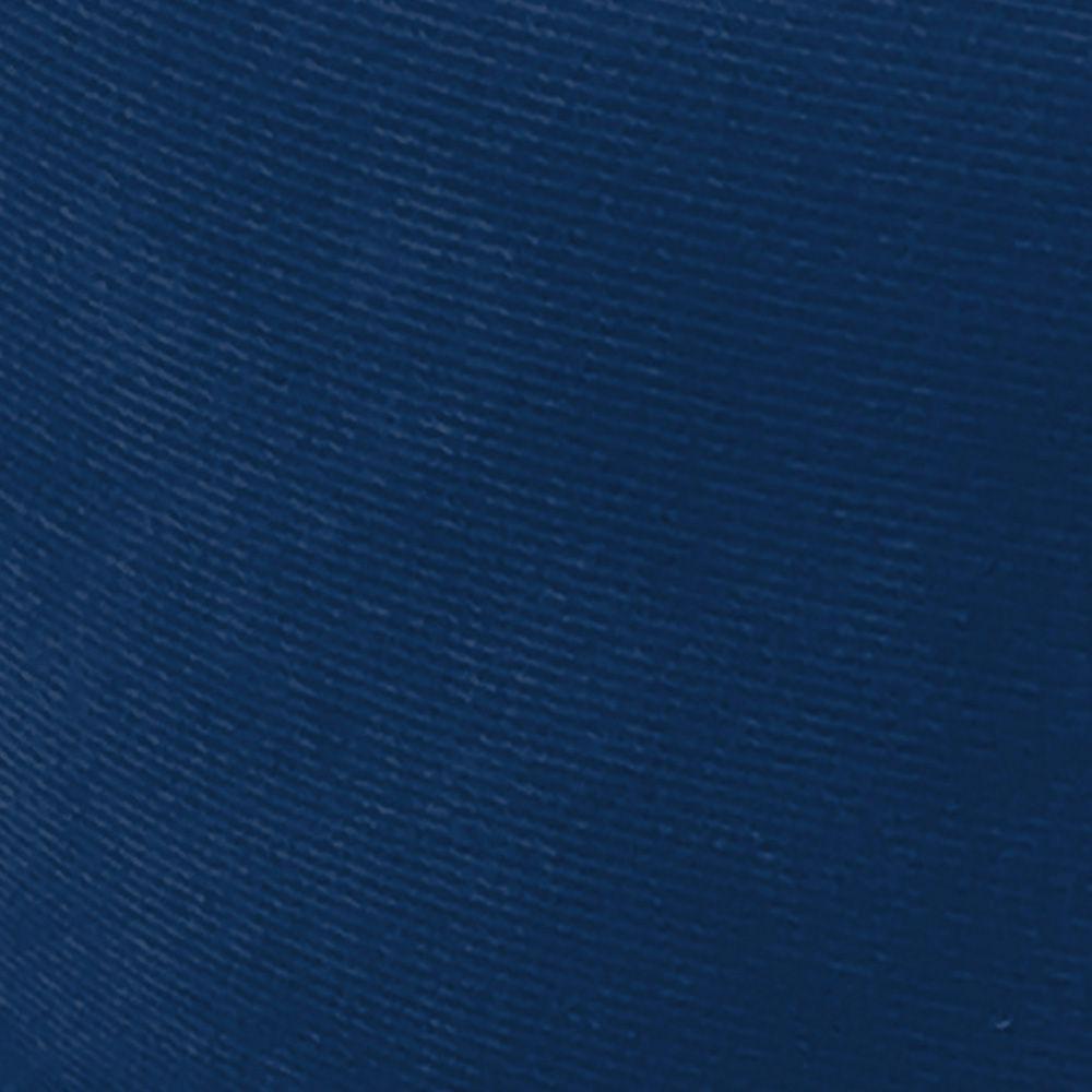 Poltrona Giratória Opala Preto Escrito D62 e Suede Azul Marinho Base Madeira D'Rossi