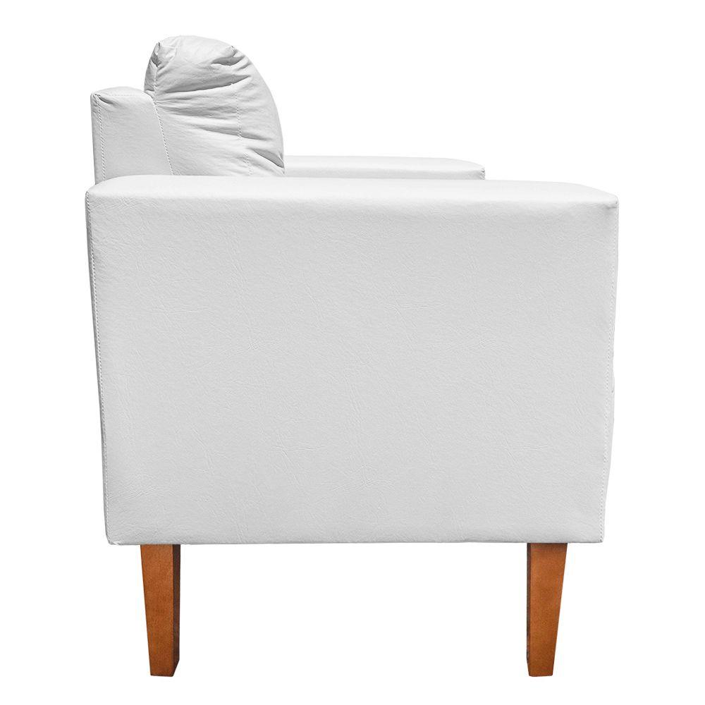 Poltrona Decorativa Lívia Corino Branco Pés Chanfrado D'Rossi